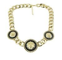 Women Girl Lady Fashion Alloy Lion Head Necklace Coarse Necklace Hot Sale