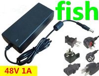 DC 48V 1A power supply AC 100-240V 48W switch power supply power adapter 50pcs/lot free shipping