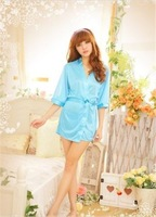 Women Girl Lady Misses Fashion Sexy Sauna Bathrobe Lingerie Nightgown