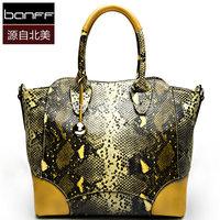 Big Famous Brand Star Love Bag Women Handbag 100% Snake Cow Skin Genuine Leather Lady Tote Bag Shoulder Crossbody Bag New 2014