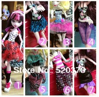 10 design Original Monster High clothing doll's dress toys 10pcs/lot hot sale toys for kids christmas