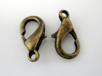200pcs  Bronze tone Lobster Clasps jewelry clasps findings 12mm