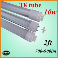 wholesale  25pcs  T8 led tube 60cm led tube10w 85-265v G13 2ft light bulb 700-900lm 230v led fluorescent lamp dhl austria
