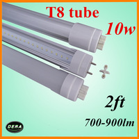 wholesale  25pcs  T8 led tube 60cm led tube10w 85-265v G13 2ft light bulb 700-900lm 230v led fluorescent lamp dhl austria