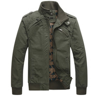 New Men Fashion Casual Winter Slim Jacket Stand Collar Long Sleeve Cotton Outerwear Decorative Buttons 4 Colors 54362