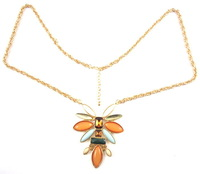 NEW 2014 Fashion Brand Vintage Jewelry Gold Planted Imitation Gemstone Pendant Necklace for Women N0158. Free Shipping