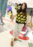 Free Shipping impson head sweaters poncho pullovers neon jeremy knit cardigan 2014 winter new Sweater---H004