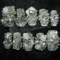 Handmade nail art nail tips finished product smd bride nail art false nail bow