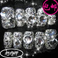 B417 austrian diamond false nail patch nail art finished products handmade customize sclerite bride