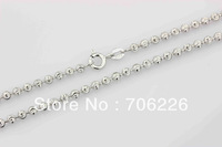 wholesale free shipping 925 sterling silver  charm round chain necklace AG213