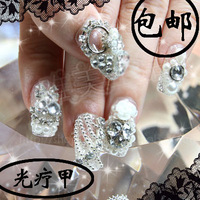 False nail patch nail art finished products handmade customize sclerite bride