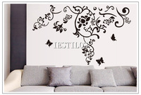 New hot vinyl decals flower removable wall stickers for bedroom