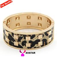 acrylic plastic bangle jewelry 2014 punk metal bangle panther Leopard cuff bracelets valentine day gift women