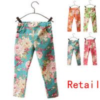 Kids Leggings Summer Girl Legging Cheap Floral Skinny Pencil Pants for Girls Children Pants Free Drop Shipping