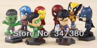 The Avengers 8pcs 3inch Marvel Mini Pocket The Avengers Movie American spiders Action Figure for the children set of 8