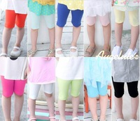 Free shipping New ! 2014 Summer Girl candy color pants baby girl Soft stretch leggings girl wear 10 color 6pcs/lot size 90-140