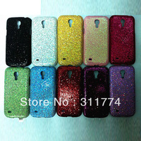 Free Shipping Glitter Shiny Bling Plastic Hard Case For Samsung Galaxy S4 Mini i9190, 100pcs/lot