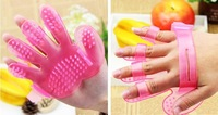 Free Shipping 2014  Pet Dog Grooming Bath Massage Glove Brush comb