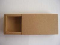 Free shipping wholesale 50pcs/lot 162*92*32mm 350g kraft paper drawer style paper gift packing storage box