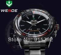 2014 WEIDE Brand Dual Time Zone LED Digital Quartz Alarm Black Military Sports Mens Wrist Watch Nice Gift Wholesale Price A016