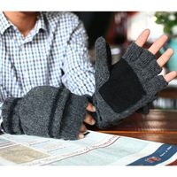 Goatswool 2013 male winter magic gloves thermal gloves pigskin plus velvet thickening
