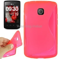 Magenta Anti-skid TPU Protective Phone Case for LG Optimus L1 II E410