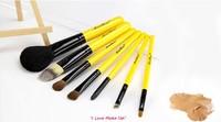 Free Shipping 7 pcs Professional Cosmetic Make up Brush Kit Brushes Make Up Tools Set  RUA