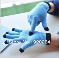 Smart Touch glove Five fingers IGlove Screen touch gloves for Iphone iPad Unisex Winter warm knitted mittens L-ST301