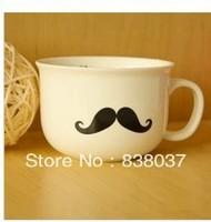 Free shipping Creative ceramic mug mustache mug zakka cup / coffee cup / couple cups Milk Cup