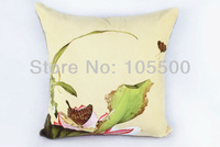 Free shipping 50cm*50cm woven Suede Digital Printing Cushion Cover.,Big, Customized pillow cover.