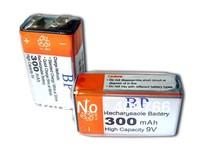 Hot Sale 6pcs/lot BP 9V 9 Volt Ni-MH Rechargeable Battery 300mAh Batteries Free Shipping