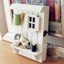 European Style Wooden Key Box Countryside Style House Shape Box Vintage Ducks Wall Decoration ,#71029(China (Mainland))