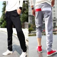 Drop Free Shipping Mens Korean Design Sports Harem Pants Trousers Boys Slim Fit Jogging Sweatpants