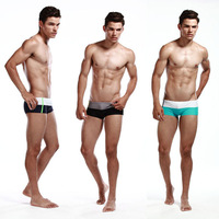 Men's Sexy Swim Trunks Color Matched Underwear Briefs Swimsuit Size MLXL Drop Free Shipping
