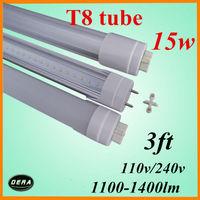 wholesale  25pcs T8 led tube 900mm led tube15w 110v/240v G13 3ft light bulb 1100-1400lm  15w led fluorescent lamp free shiping