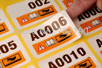 custom printed logo paper adhesive sticker label for Anti-Counterfeit