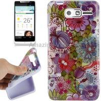 Case for Motorola RAZR D3 XT920 XT919 Flowers Pattern TPU case