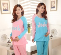 Maternity spring and autumn thin charges rmb139800 lounge suit 100% cotton sleepwear nursing set nursing clothes 100% cotton