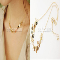 2014 The new fashion lovely personality joker skull Multilayer necklace