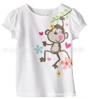 2014 Summer New ! High Quality G*P Children 100% cotton Short Sleeve t-shirt Girl baby t shirt for girl short sleeve tops18M-6T