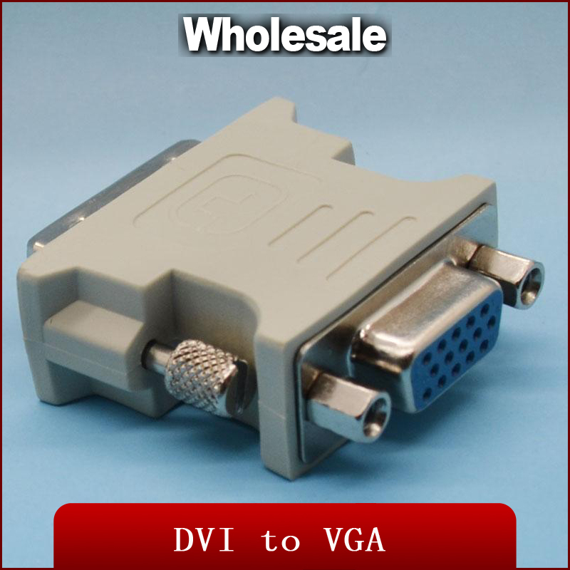 Gold plated ATI DVI to vga connector DVI-I(A/D) to VGA male to f