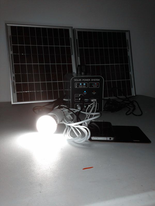 20W-9AH solar energy system/ power supply 12v / solar generator /rechareable battery / solar panel kits(China (Mainland))
