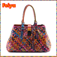 9068 Styles Woven Star bag Vintage Fashion Bags Women's Cowhide Genuine Leather Handbag Fashion Brand Real Natural Totes