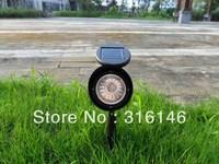 DHL( fedex) free shipping 3 leds solar led lights Spotlight Landscape Spot Light garden Lawn yard lamp Lighting