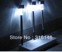 DHL( fedex) free shipping Solar Led Garden Lights stainless steel solar led yard Lawn garden Lamp light