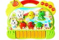 Drop Shipping  sale Cartoon animal farm music harp/educational electronic keyboard mini electroic keyboard childhood toys