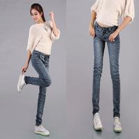 Women Sexy denim jeans 2014 New arrival Pencil Jeans Wash Pants Women's Denim Jeans Slim Trousers