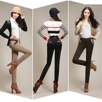 Classic Solid Winter Big Size Thick Tights Warm Fleece Harem Women's Pants Slim Pencil Pants,Cargo Trousers Plus Size Warm Pants