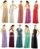 Maxi Dress Free Shipping Cheapest Jersey Multi Way Wraps Nude Convertible Bridesmaid Dress Evening Party Dresses Long Style