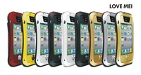 Waterproof Dropproof Dirtproof Shockproof Aluminum Case for iPhone 4 4s  Metal Cover Gorilla Glass Retail Packaging